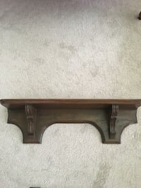"""Shelf, antique, wall hanging, 33"""" wide x 9"""" high x 9"""" deep, exc. cond."""