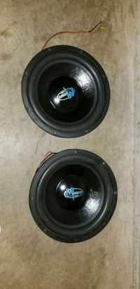 two black and gray subwoofers Bowie, 20720