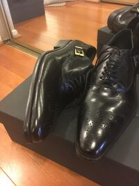 Pair of black leather shoes size 11/45 Alexandria, 22304