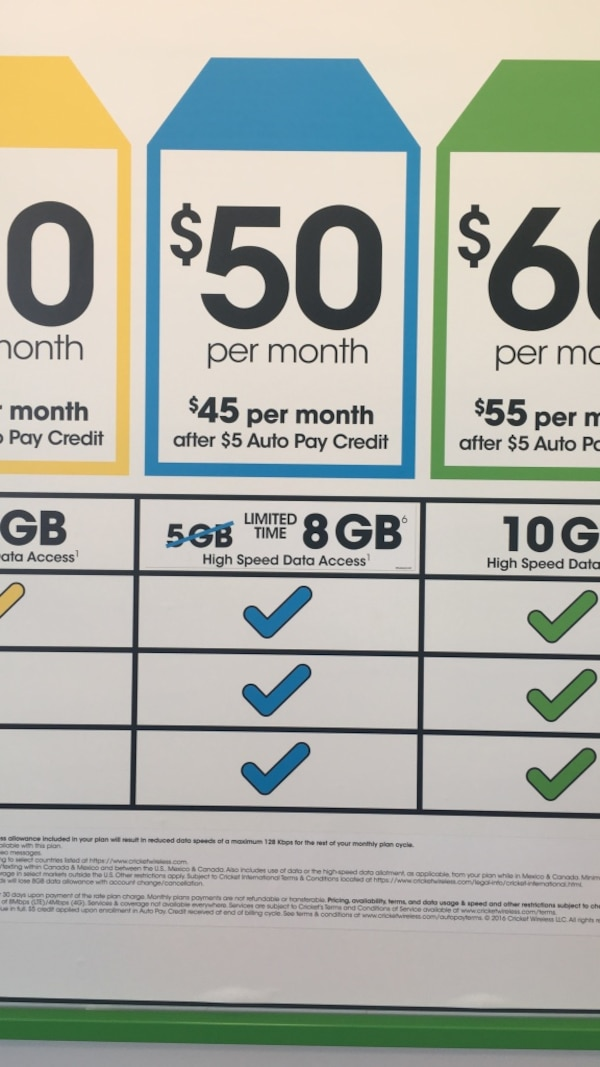 Cricket 50 plan now offers 8GB hurry this is limited time offer