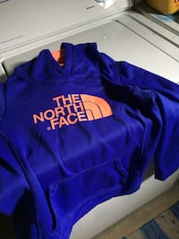 blue The North Face hoodie jacket Edmonton, T5R 1E3