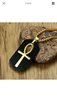 Ahnk Dog Tag Necklace