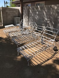 Wrought iron chaise lounges- set of 4