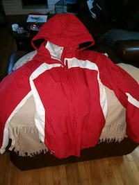 red and white zip-up jacket 1297 km