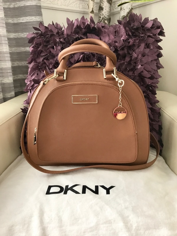 ca760977f0e2 Used Brown DKNY leather two way handbag for sale in New York - letgo