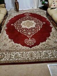 red and white floral area rug Alexandria, 22309