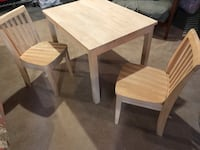 Children's table w/ 2 chairs. Unfinished. Perfect condition  Scarborough, 04074