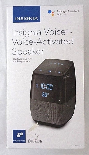 Insignia Voice Smart Bluetooth Speaker with Built-in Google Assistant NS-CSPGASP