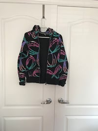 Black teal and pink TNA zip-up hoodie Vaughan