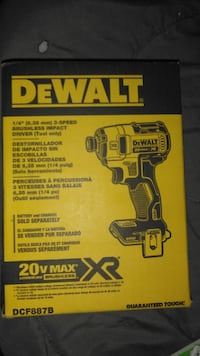 DEWALT 20V MAX XR Lithium-Ion Cordless Brushless 3-Speed 1/4-inch Impact Driver (Tool-Only) London