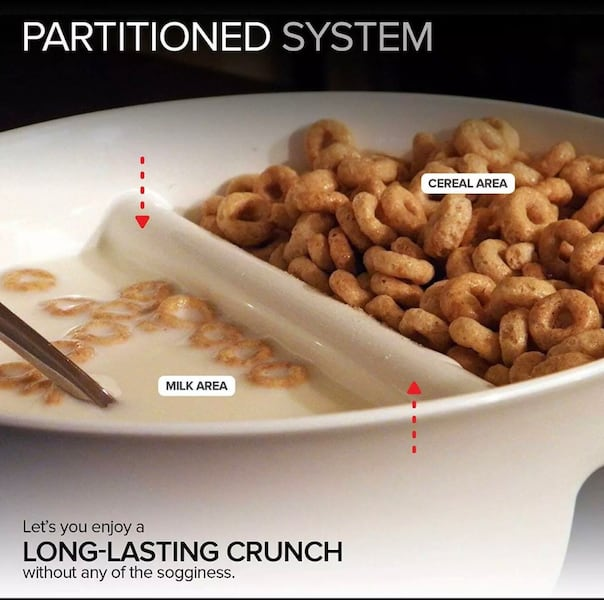 Anti-Soggy Bowls (2) Keeps Cereal/Chips Fresh Crunchy  eac30de2-7765-4dfc-8792-f16ced70ecfb