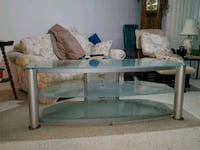rectangular glass top coffee table Mims, 32754