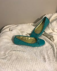 Size 8 turquoise flats Spring, 77373