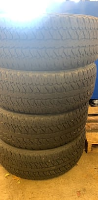 Four black rubber car tires Columbia, 21046