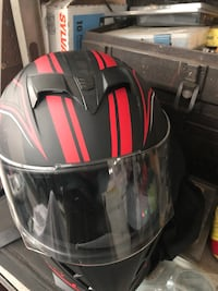 black and red full-face helmet Winchester, 22602