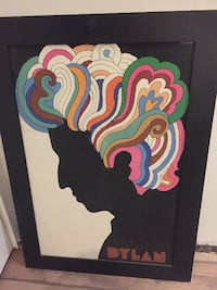 Bob Dylan Posted Mounted and Framed EDMONTON