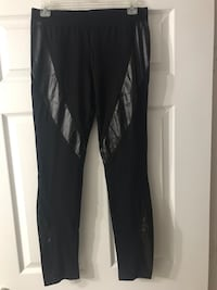 Black leggings with leather sides: Large Miami, 33145