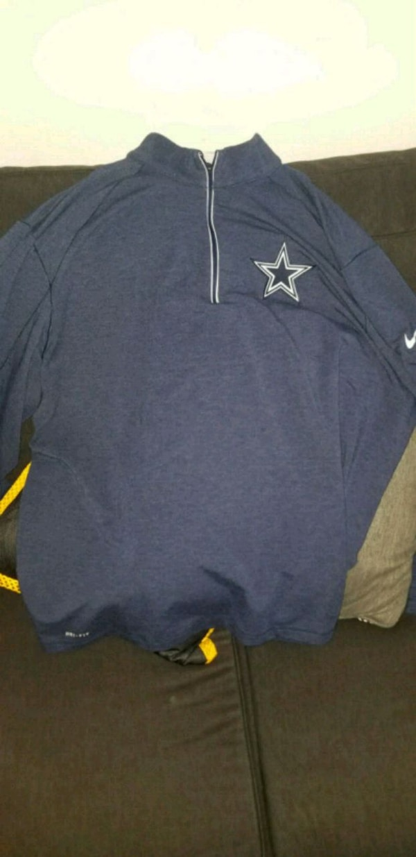 more photos a80ee bc7fb Dallas cowboys half chest zip up jacket size 3xl