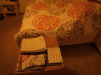 white and red floral bed comforter SPRINGFIELD