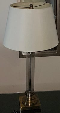 Clear glass side table lamp $30 Toronto