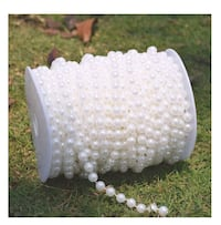 10 mm Large Pearls Faux Crystal Beads by The Roll - White Omaha, 68022