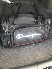 black, white, and red Champion sports bag Riverside, 92504