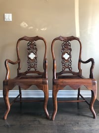 Occasional Chairs - Indonesian Teak - Pair Mississauga, L5M 1W2