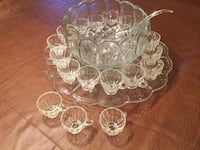 SMITH Old Dominion Clear Glass Vintage Punch Bowl Set 26 km