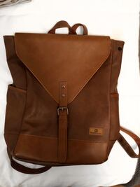 Brown leather backpack  Toronto, M6C 1W1