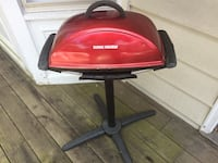 Red and black electric grill foreman