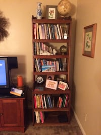 Custom made bookcases out of real wood