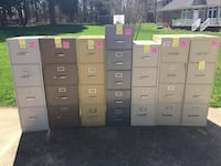 4 and 5-Drawer File Cabinets • (Lot 7) • Used Clover, 29710