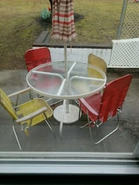Table 4 chairs and umbrella Yaphank, 11980