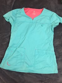 teal v-neck cap-sleeved shirt Cleburne, 76033