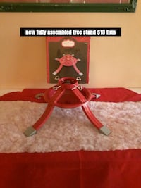 New fully assembled metal tree stand, $10 firm Colton