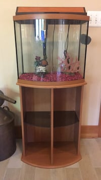 brown wooden framed glass fish tank Mc Lean, 22101