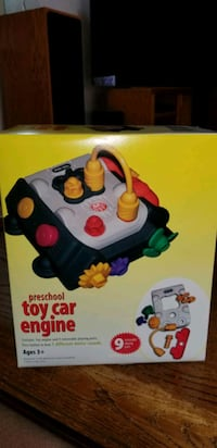 NEVER USED VINTAGE PRESCHOOL TOY CAR ENGINE.  BATTERIES NOT INCLUDED.