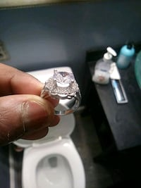 silver and diamond ring in box Hyattsville, 20781