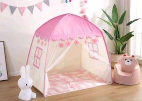Kids castle tent - spacious- brand new - oxford fabric