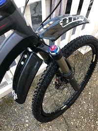 For mountain bike plastics front and back