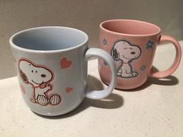 Snoopy Adorable Small Mugs