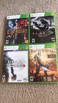 Four xbox 360 game cases South Bend, 46615