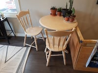 """32"""" Solid Hardwood Table & Chairs London, N5W 2L1"""