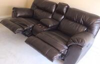 leather espresso reclining sofa with storage under hand rest Arlington, 22204