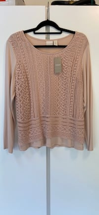 Chico's NWT lace top dusty rose pink long sleeve blouse size 2 Potomac, 20854