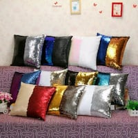 New reversible sequin pillow covers Montreal, H8T