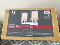 MILO Vanity Light Fixture BNIB  Brand new in the box.  Dimensions are on the pics.  VIEW MY OTHER ADS!!!