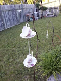white and pink floral table lamp Quinte West, K8V 5P4
