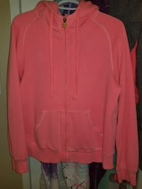pink zip-up pullover hoodie Port Coquitlam, V3B 2E4