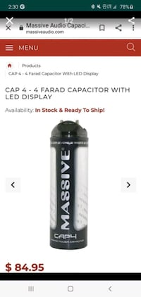 Massive Capacitor 4 fared (Brand New)